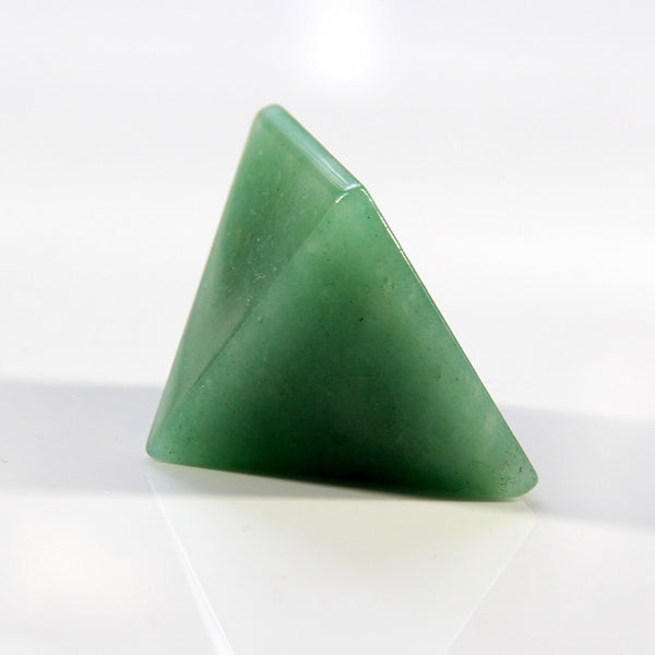 Green Aventurine Crystal Pyramid - GOOD LUCK FOR YOU BEDROOM OR WORKSPACE