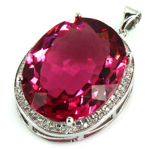Pink Tourmaline Gem Pendant - POWERFUL STONE FOR BRINGING LOVE INTO YOUR LIFE