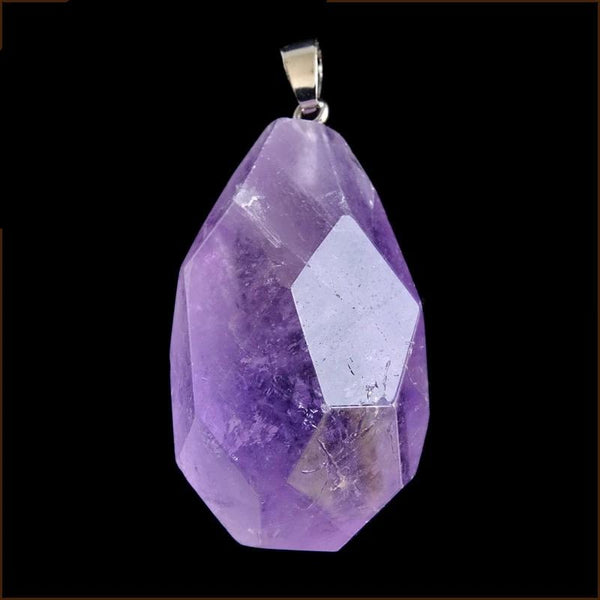 Purple Amethysts Crystal Stone Pendant - STRONG ANXIETY RELIEF