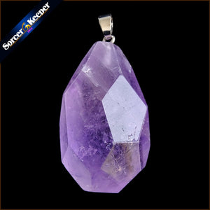 Fashion Jewelry Natural Purple Amethysts Crystal Stone Pendant Necklace For Women Timeless Love's Gift For Girlfriend HH536