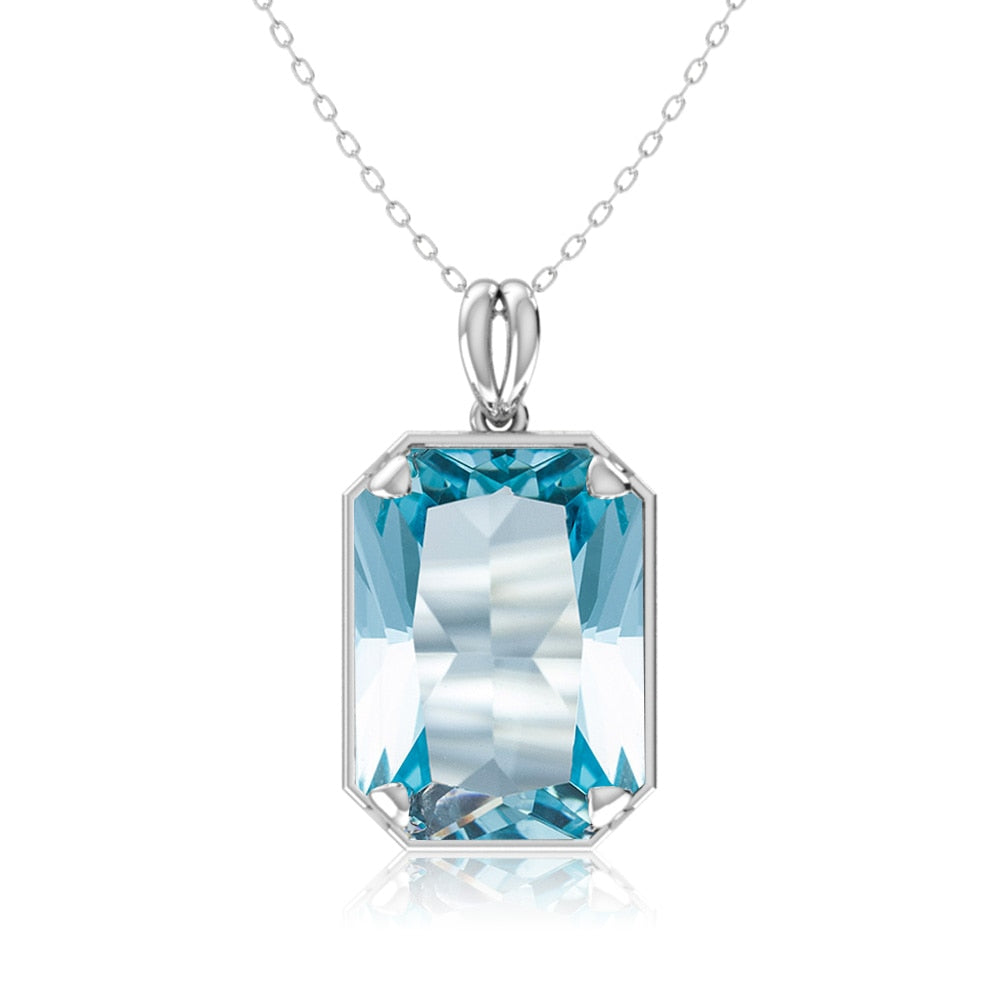 Large Aquamarine Gemstone Pendant -  MAKE BETTER DECISIONS FASTER