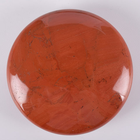 Red Jasper Round Palm Stone - HOLD BEFORE AND AFTER SURGERY FOR A SPEEDY RECOVERY