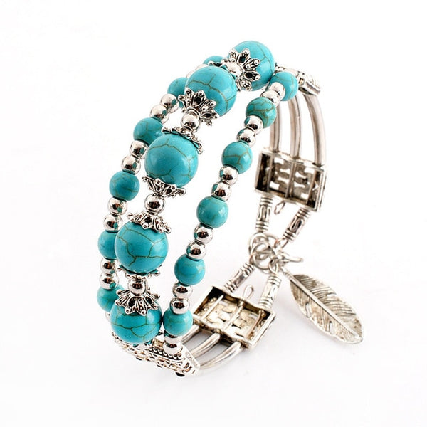 Vintage Turquoise Bracelet - BENEFICIAL CALMING POWER