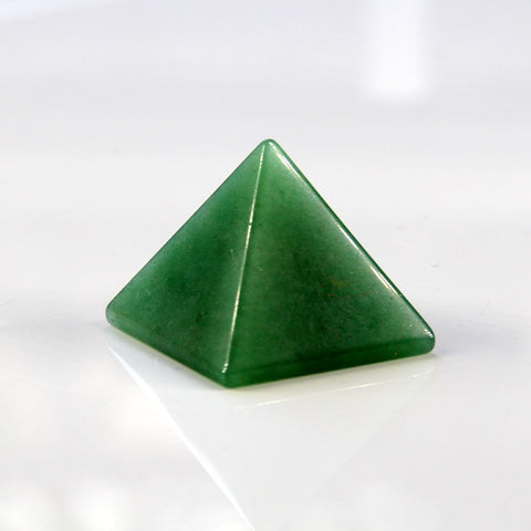 Green Aventurine Crystal Pyramid - STONE OF OPPORTUNITY