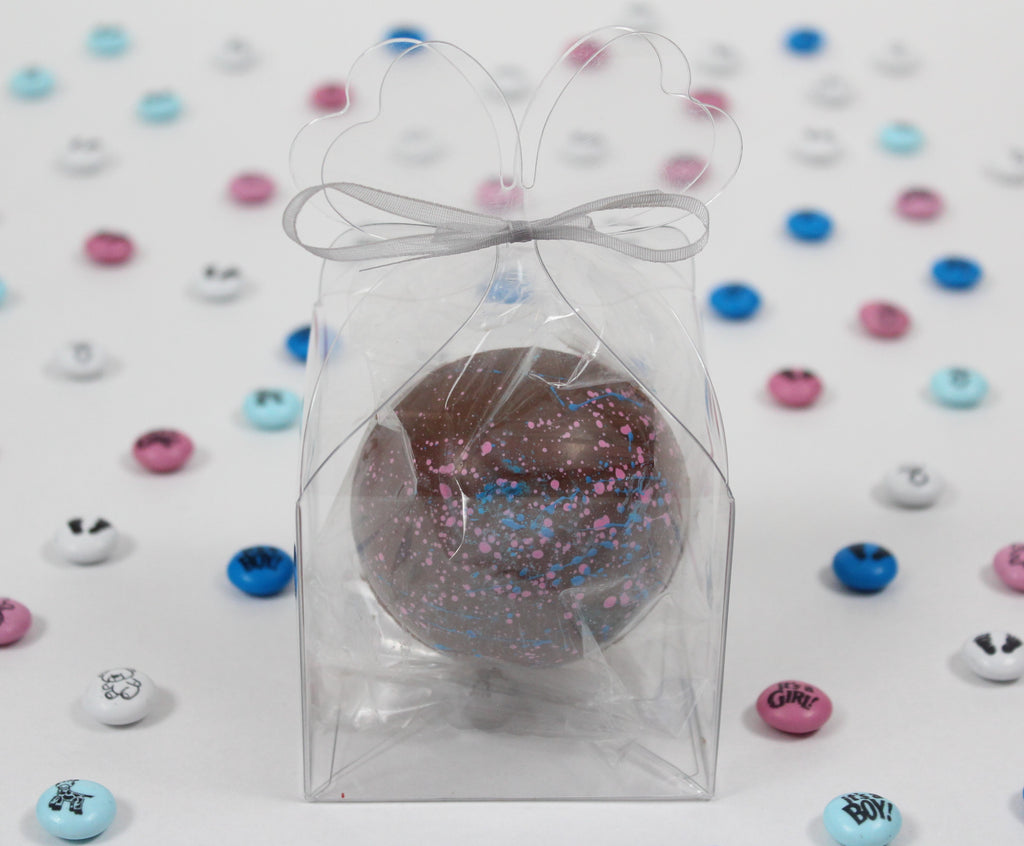 Gender Reveal Candy Filled Spheres & Hot Cocoa Bombs freeshipping - Chocograms