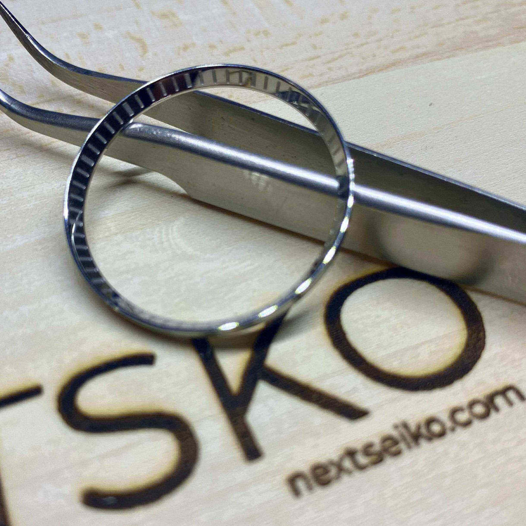 Parts Polished Stainless Laser Etched SKX007 Solid Steel Chapter Ring - Polished Finish nextseiko.com