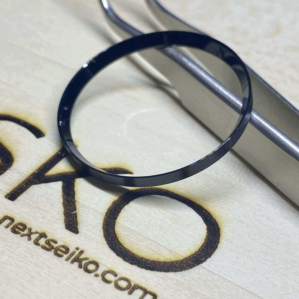Parts Polished Stainless Steel (Black) SKX007 Solid Steel Chapter Ring - Polished Finish nextseiko.com