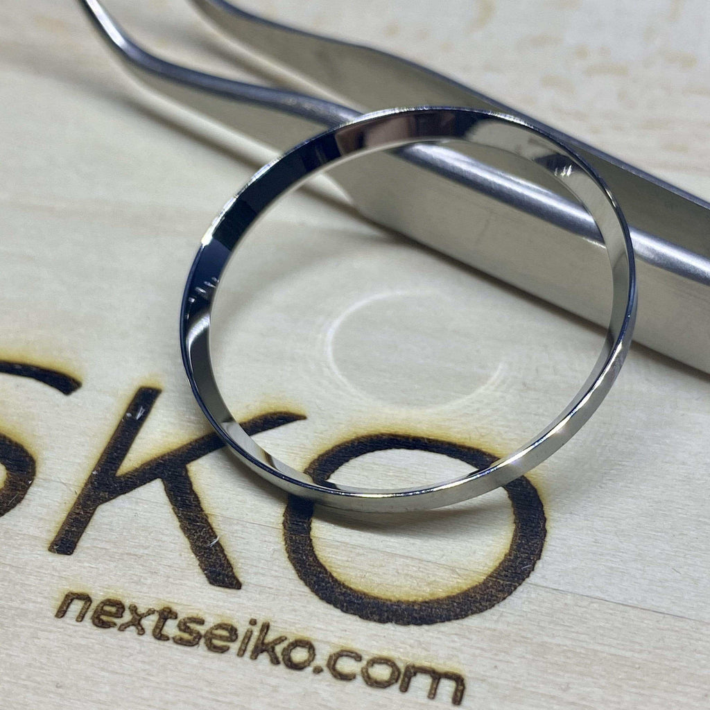 Parts Polished Stainless Steel (Silver) SKX007 Solid Steel Chapter Ring - Polished Finish nextseiko.com