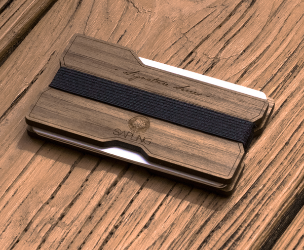 Signature Series Wood Wallet V2 - Sapling Inc.
