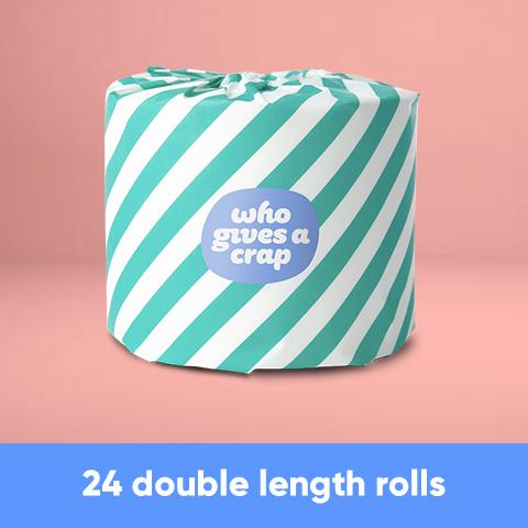 100% Recycled Toilet Paper - 24 Double Length Rolls