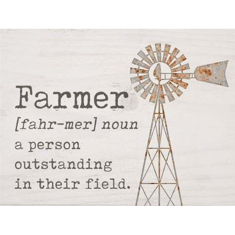 Farmer word block