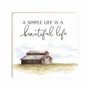 A simple life is a beautiful life: Coaster