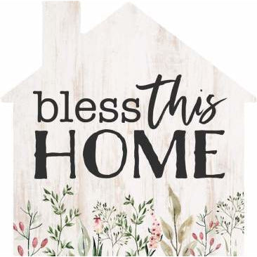 Bless this home: word block