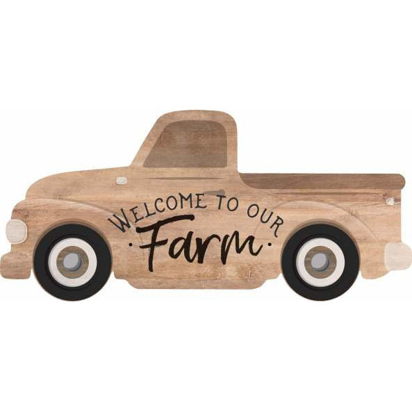 Welcome to our farm: word block