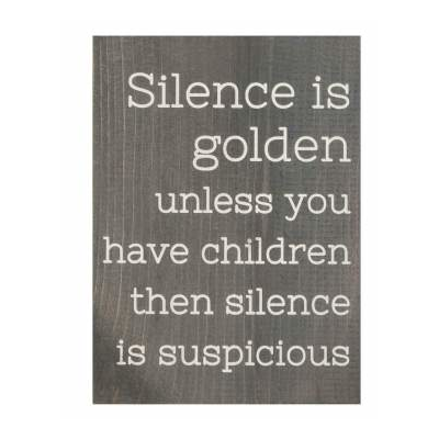 Silence is golden: word block