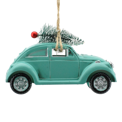 Blue Car Ornament