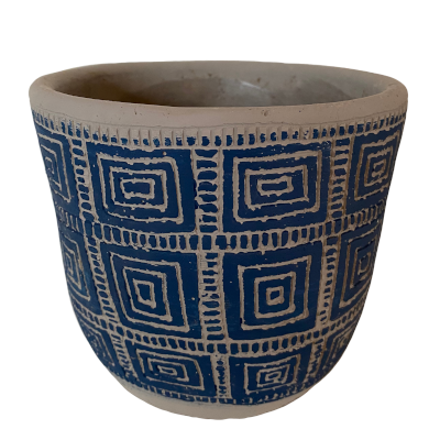 Blue Aztec Pot