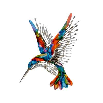 Rainbow hummingbird wall art