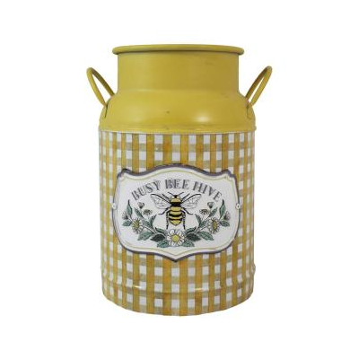 Yellow Bee Hive Milk Can