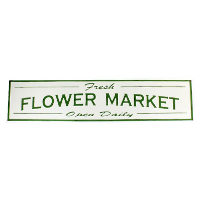 Fresh flower market sign