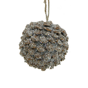 Pinecone Round Ornament Brown