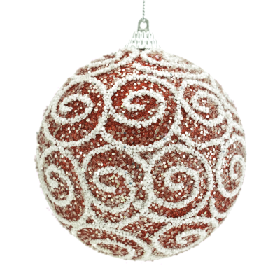 Red Swirl Ornament