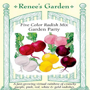 RADISH FIVE COLOR GARDEN PARTY