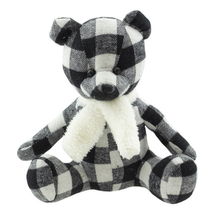 Plush Teddy Bear Black & White