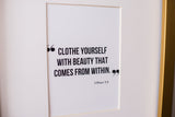 Closet Quote | Beauty From Within
