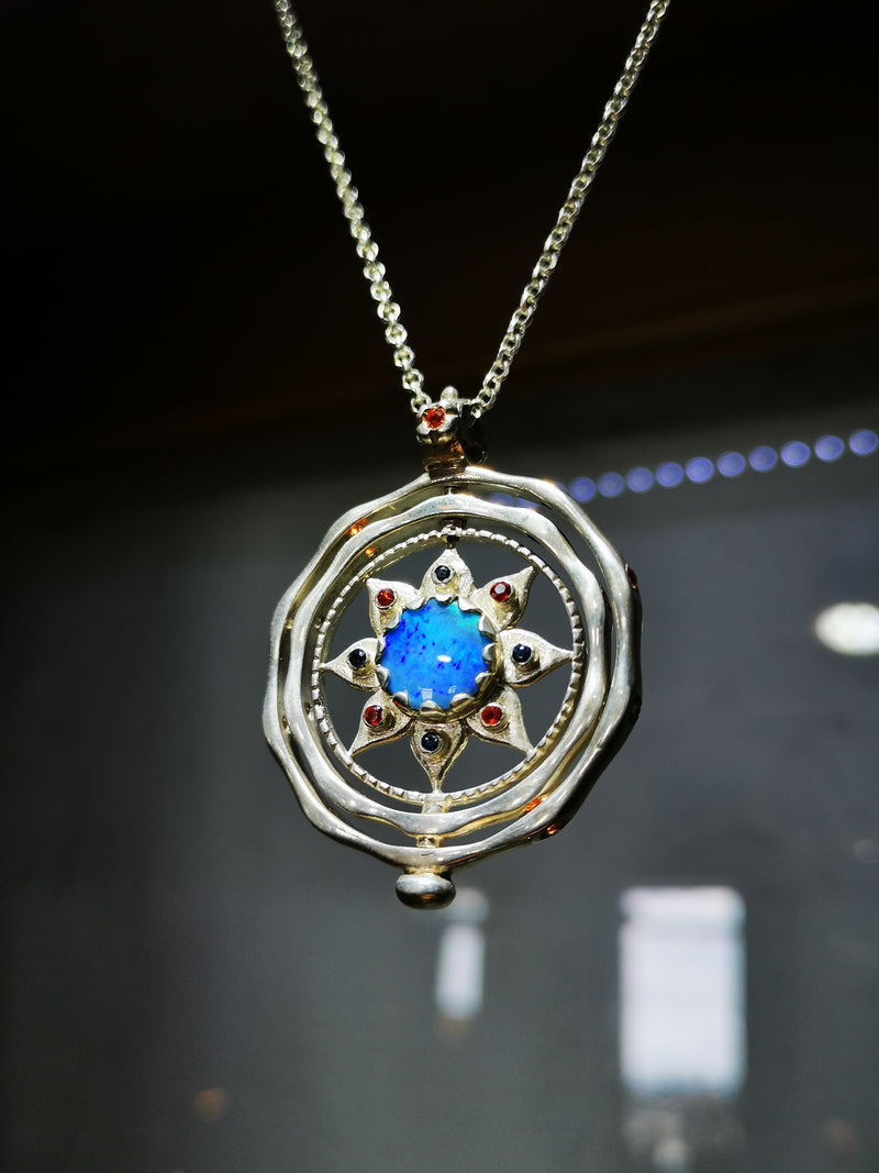 Opal Spinning Star Pendant