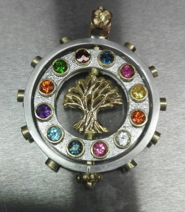 Gold Tree of Live Silver Pendant