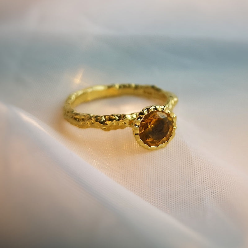 Orange Topaz Ring