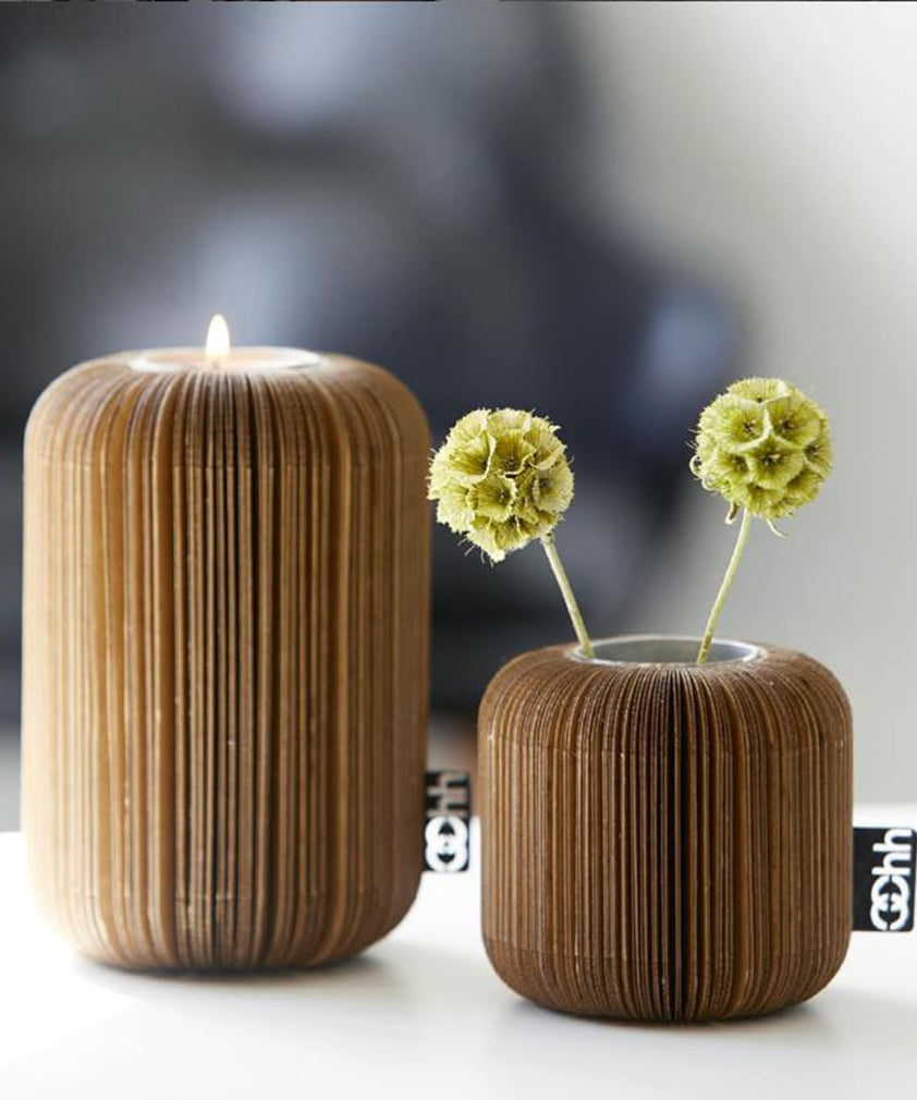 FAN TEALIGHT HOLDER / VASE