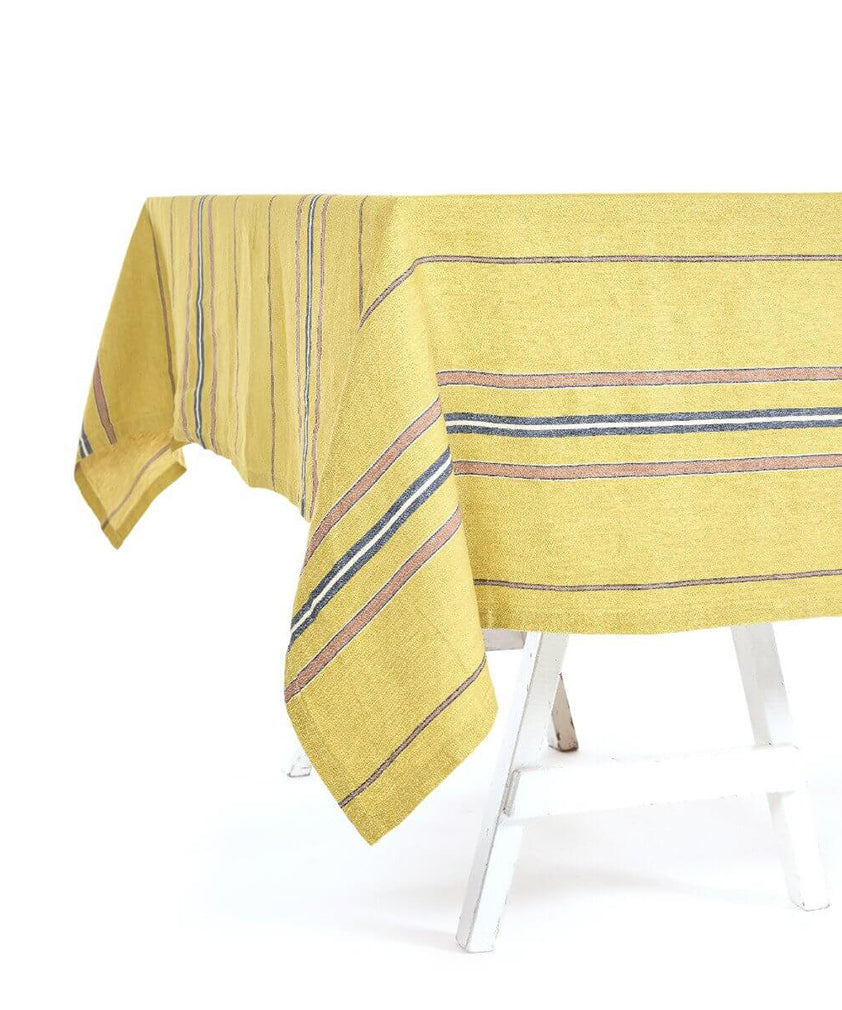 PATIO STRIPE TABLECLOTH