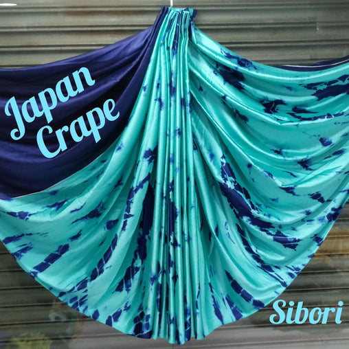 JAPAN CREPE SAREE (DarkBlue Blue)