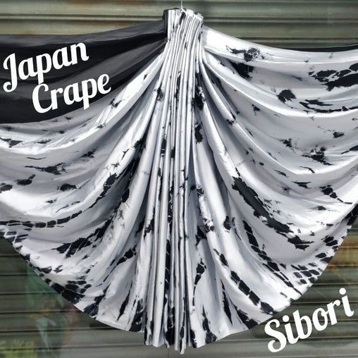 JAPAN CREPE SAREE (Black Grey)