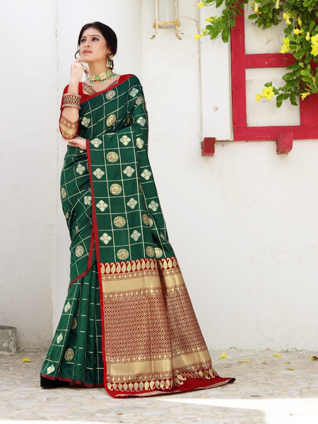 Beautiful Silk Saree(Green)