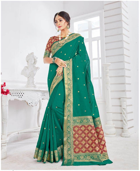 SILK SAREE For Women(Green)