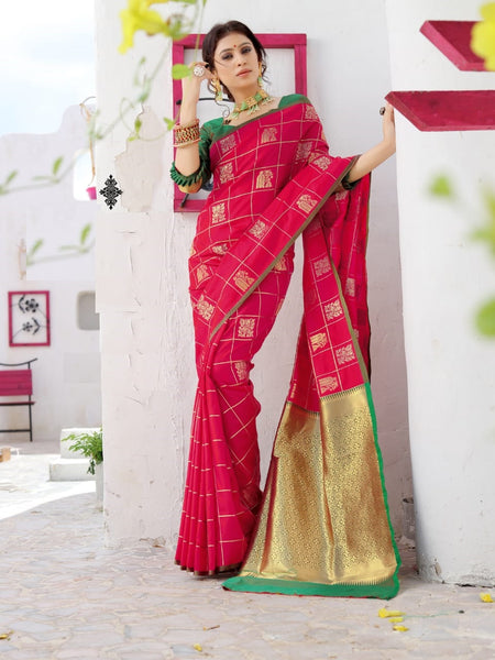 Beautiful Silk Saree(Pink)