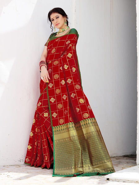 Beautiful Silk Saree(Red)