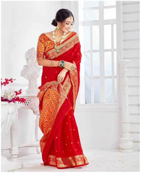 SILK SAREE For Women(Red)