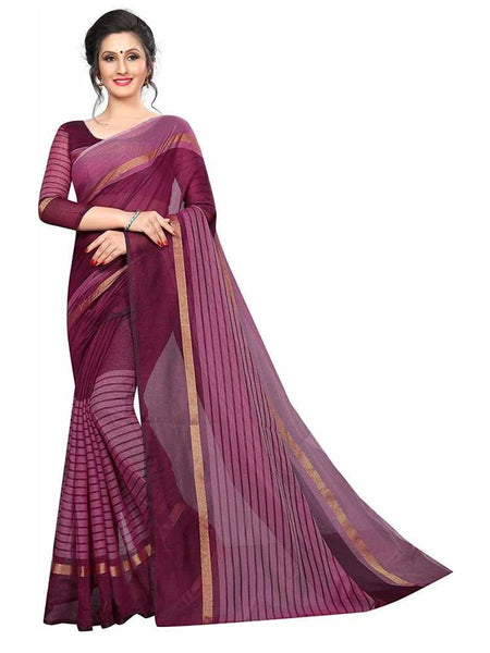 SAREE with Blouse Piece(maroon)