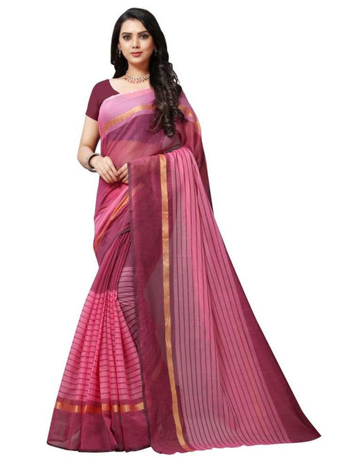 SAREE with Blouse Piece(Pink)