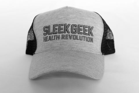 Mottled Grey Sleekgeek Health Revolution Trucker Cap