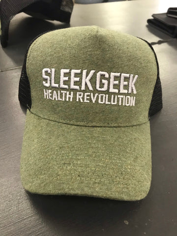 Mottled Green Sleekgeek Health Revolution Trucker Cap