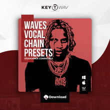 Load image into Gallery viewer, Lil Durk Type WAVES Vocal Chain Preset