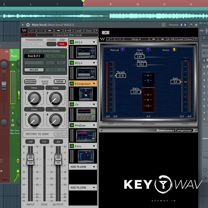 Dave East Type WAVES Vocal Chain Preset