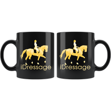 Load image into Gallery viewer, iDressage - Gold on Black Coffee Mug