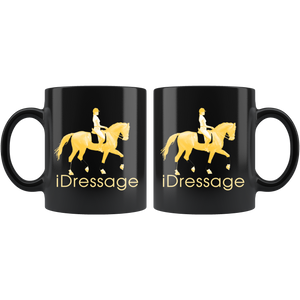 iDressage - Gold on Black Coffee Mug