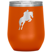 Load image into Gallery viewer, Wine Tumbler - Jumper Classic Clear Round Class - Orange